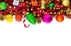 Weihnachtsrand auf weißem Hintergrund Lizenzfreie Stockbilder