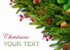 Weihnachtsrand-Auslegung Stockfoto