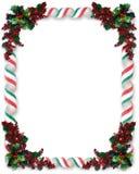Weihnachtsrand-Farbband-Süßigkeit Stockbild