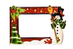 Weihnachtsrand/-feld Stockfotografie