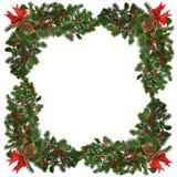 Weihnachtsrand gegen Weiß Lizenzfreie Stockfotos