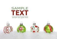Weihnachtsrand mit bunten Leuchten Stockbilder