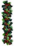 Weihnachtsrand-Stechpalme-Girlande Stockfotografie