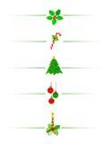 Weihnachtsrand/-teiler Lizenzfreie Stockfotos