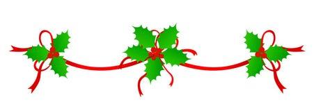Weihnachtsrand/-teiler Stockfotografie