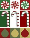 Weihnachtsrand-Trio Stockfotografie