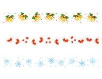 Weihnachtsrandteiler Lizenzfreie Stockfotos