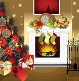 Weihnachtsraum Lizenzfreies Stockfoto
