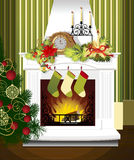 Weihnachtsraum Stockfoto