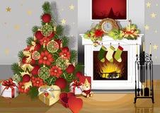 Weihnachtsraum Stockfotografie