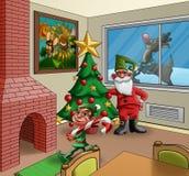 Weihnachtsraum Stockbild