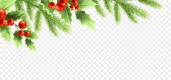 Weihnachtsrealistisches Dekorations-Fahnendesign Lizenzfreie Abbildung