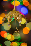 Weihnachtsregenschirm Stockbild