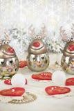 Weihnachtsren und -schnee Stockbilder