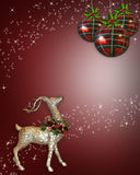 Weihnachtsrenhintergrund Stockfotografie