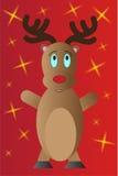 Weihnachtsrenillustration Stockfotos