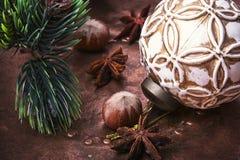 Weihnachtsretro- Dekoration Lizenzfreie Stockbilder