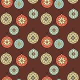 WeihnachtsRetro- Verzierunghintergrund Stockfotos