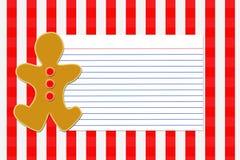 Weihnachtsrezept-Karte Stockbild