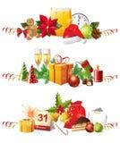 Weihnachtsränder Stockfoto