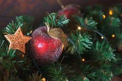 Weihnachtsrot Apple Lizenzfreie Stockfotografie