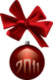 Weihnachtsrot-Dekoration Stockfoto