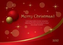 Weihnachtsrot-Hintergrund Stockbilder