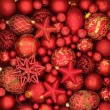 Weihnachtsrot und Goldflitter-Hintergrund Stockfotografie