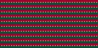 Weihnachtsrote grüne horizontale Streifen mit goldenen Gekritzelpunkten stock abbildung
