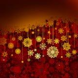 Weihnachtsrote Grußkarte. ENV 8 Lizenzfreie Stockfotos