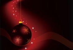 Weihnachtsrotkugel Stockfotos