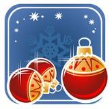 Weihnachtsrotkugeln Stockfoto