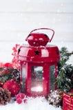 Weihnachtsrotlaterne Lizenzfreies Stockfoto