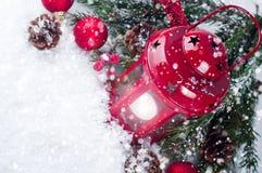 Weihnachtsrotlaterne Lizenzfreie Stockbilder
