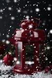 Weihnachtsrotlaterne Lizenzfreies Stockbild