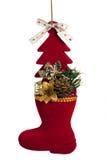 Weihnachtsrotmatte Stockbild