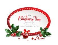 Weihnachtsrotrahmen lizenzfreie abbildung
