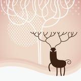 Weihnachtsrotwild lizenzfreie stockfotografie