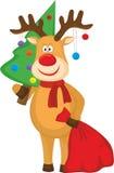 Weihnachtsrotwild Stockfotografie