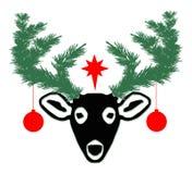 Weihnachtsrotwild Stockfoto