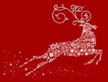 Weihnachtsrotwild Lizenzfreies Stockfoto