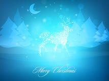 Weihnachtsrotwild | Grußkartenauslegung Stockfotos