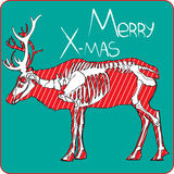 Weihnachtsrotwild sceleton Lizenzfreies Stockbild
