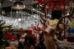 Weihnachtsrotwilddekoration Lizenzfreies Stockfoto