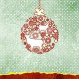 Weihnachtsrotwildkarte. ENV 8 vektor abbildung