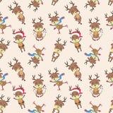 Weihnachtsrotwildmuster Lizenzfreies Stockfoto