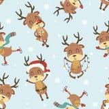 Weihnachtsrotwildmuster Stockbilder