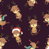 Weihnachtsrotwildmuster Stockbild