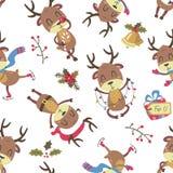 Weihnachtsrotwildmuster Lizenzfreies Stockbild