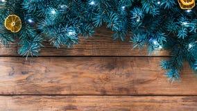 Weihnachtsrustikaler Hintergrund Stockfoto